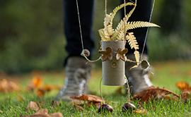 단풍잎 접시에 가을을 담아